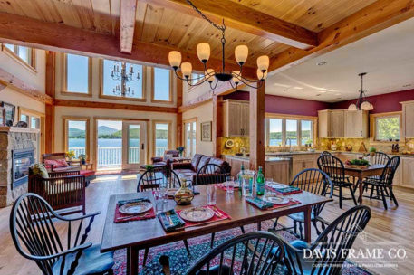 Northern Vermont hybrid timber frame home