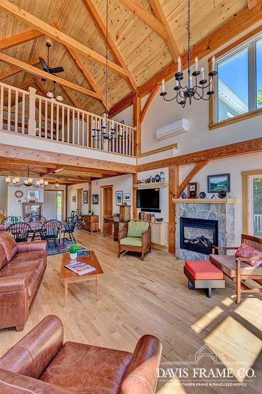 vermont lakeside timber frame