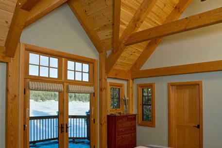 Lake Mascoma Timber Frame Home bedroom