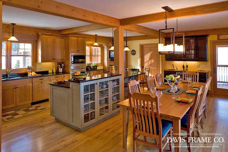 Lake Mascoma Timber Frame Home kitchen