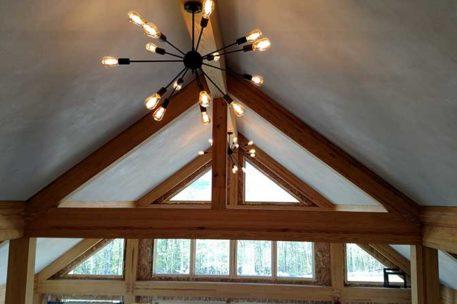Modern timber frame barn