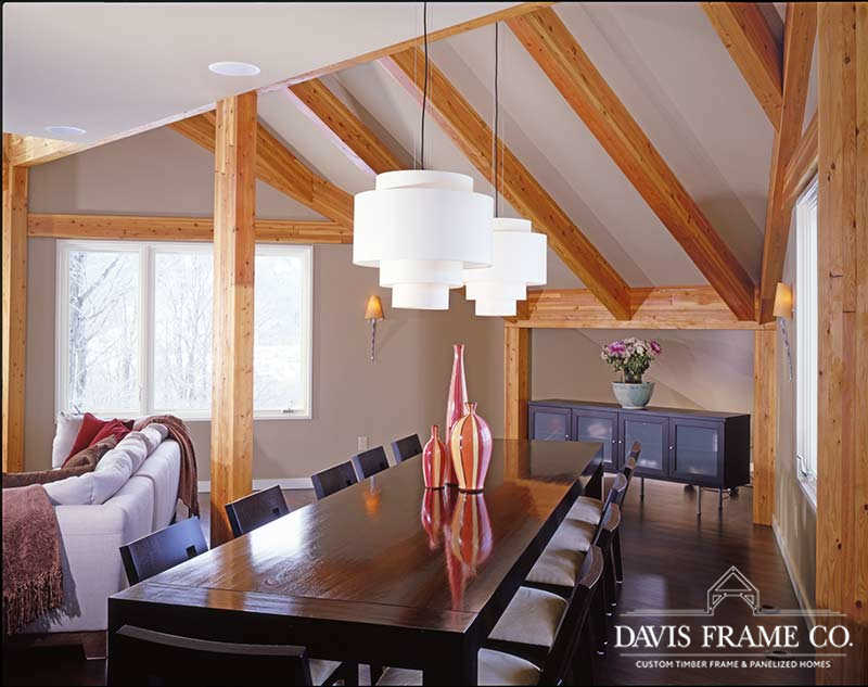 Killington Vermont timber frame home
