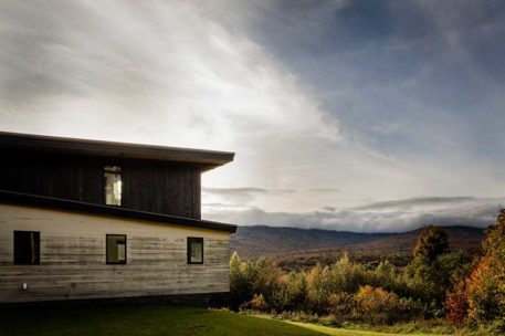 Mountain modern timber frame home in Vermont