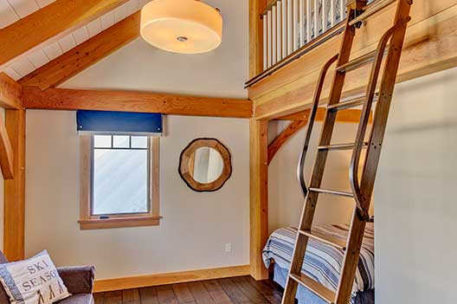 Timber frame bedroom with loft
