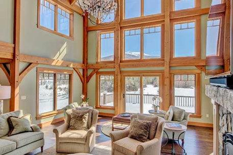 Franconia New Hampshire timber frame home