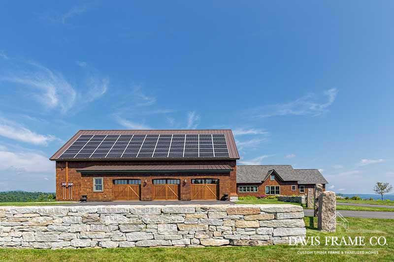 New Hampshire timber frame barn