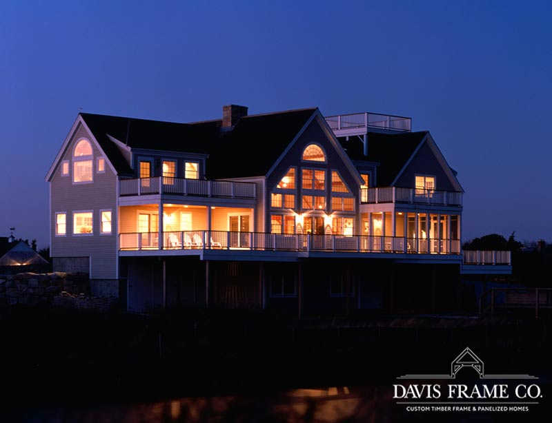 Oceanfront Cape Cod timber frame home