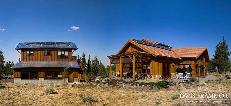 Off Grid Oregon timber frame home