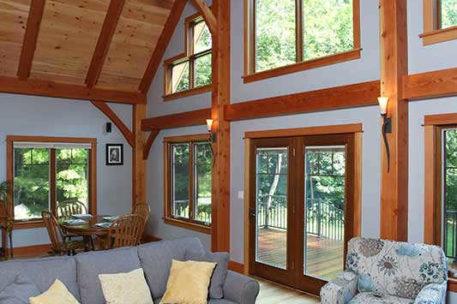 Massachusetts timber frame home