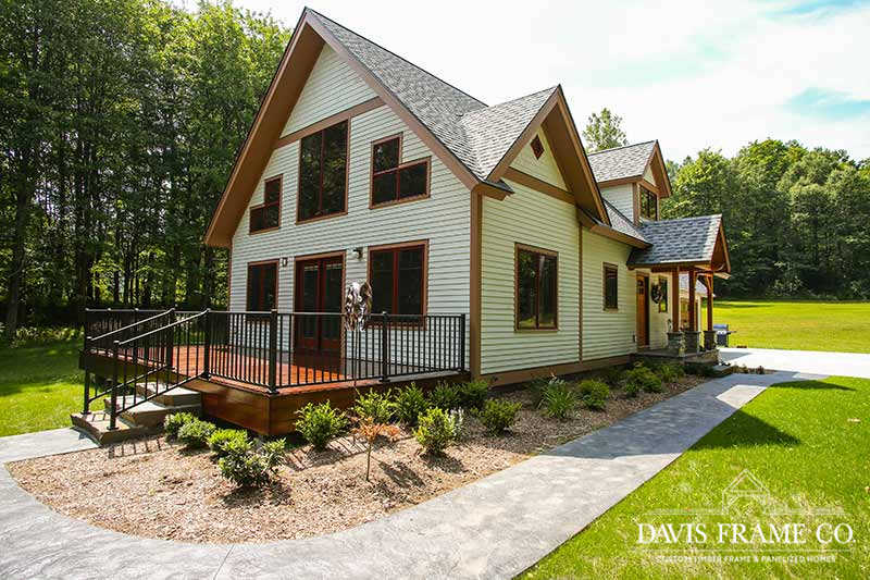 Small craftsman timber frame home