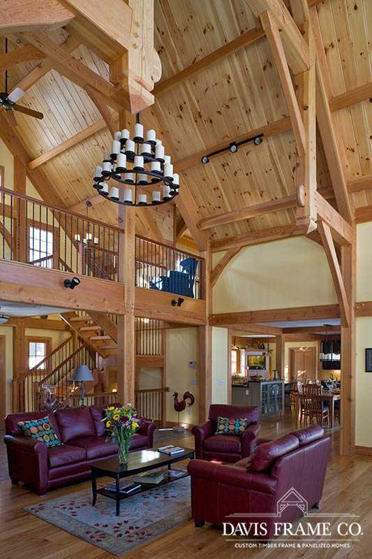 Lake Mascoma timber frame great room