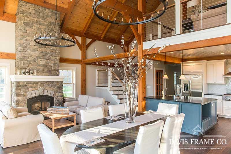 Long Island New York timber frame home