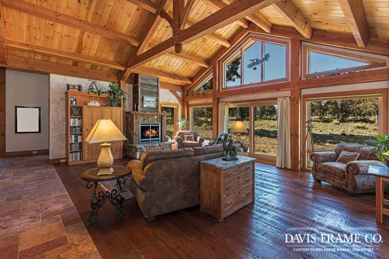 oregon timber frame great room