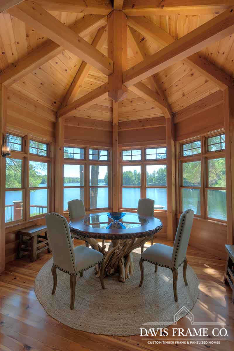 lakeside timber frame great room