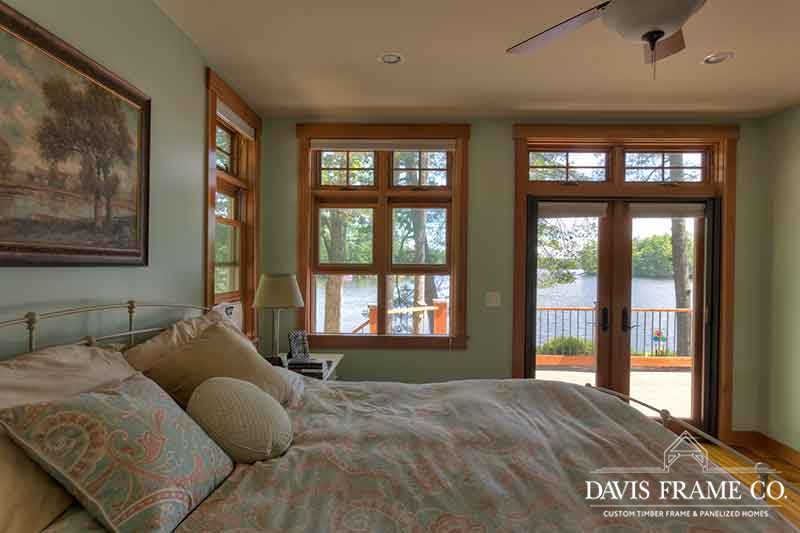 lakeside master bedroom in NH