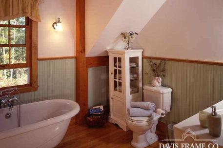 Post and beam bathroom
