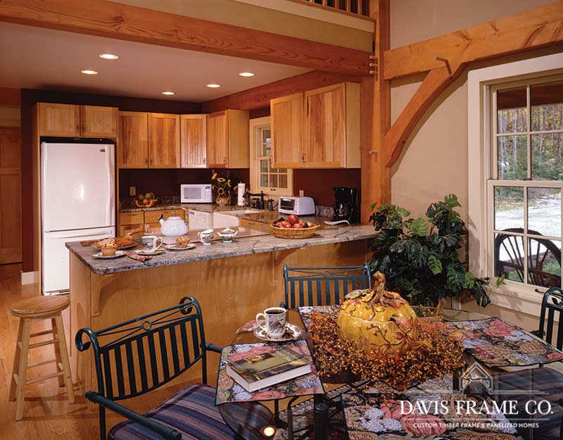 Classic homestead barn home kitchen