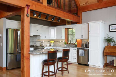 Small craftsman timber frame kitchen