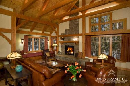 Breckenridge Colorado timber frame great room