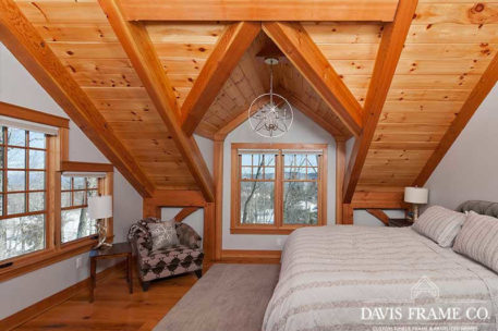 Slopeside timber frame home in Stratton Vermont