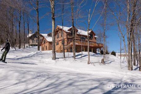 Slopeside timber frame home in Vermont