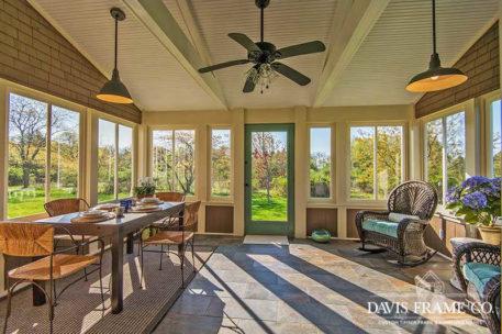 Long island barn home sunroom