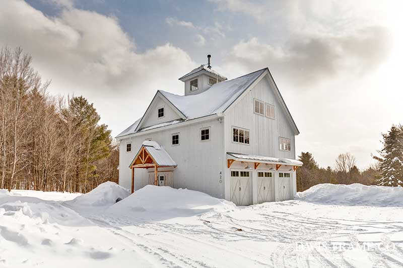 Southern Vermont timber frame barn home