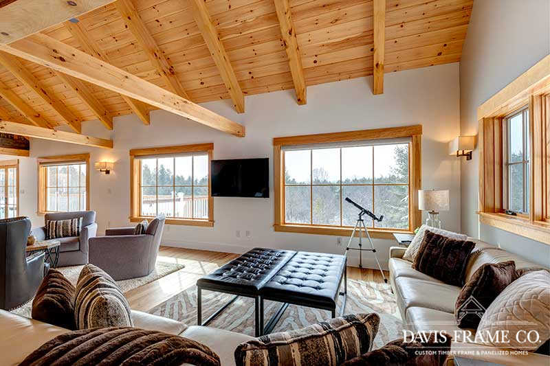 Southern Vermont mountain timber frame home