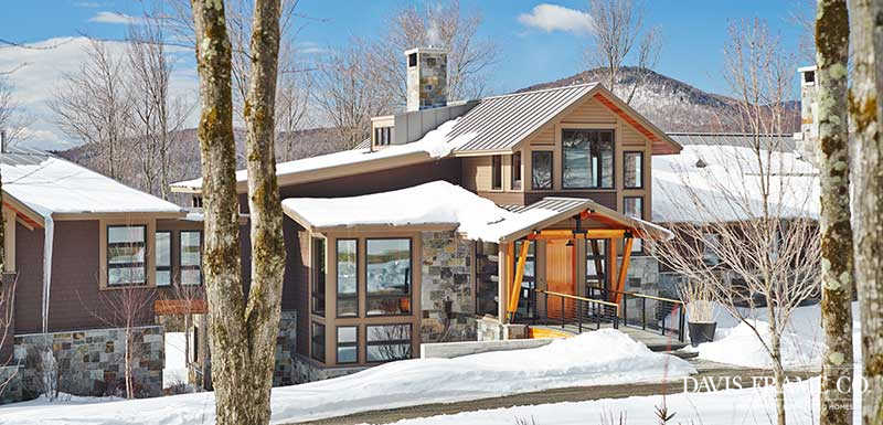 Stowe Vermont timber frame home