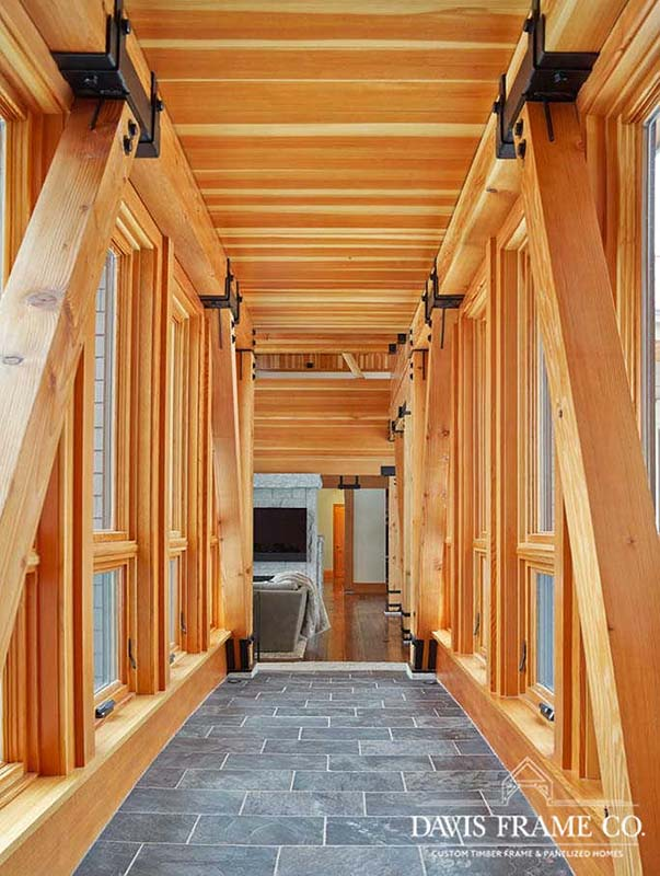 Stowe Vermont modern timber frame ski house