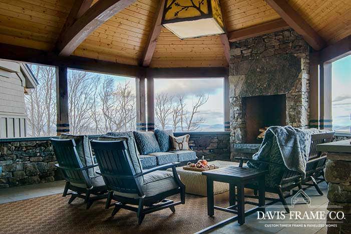 Stratton Vermont timber frame ski house