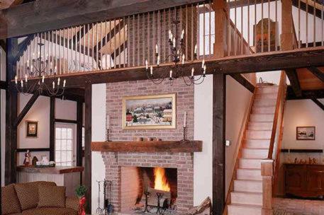 Classic studio barn home great room