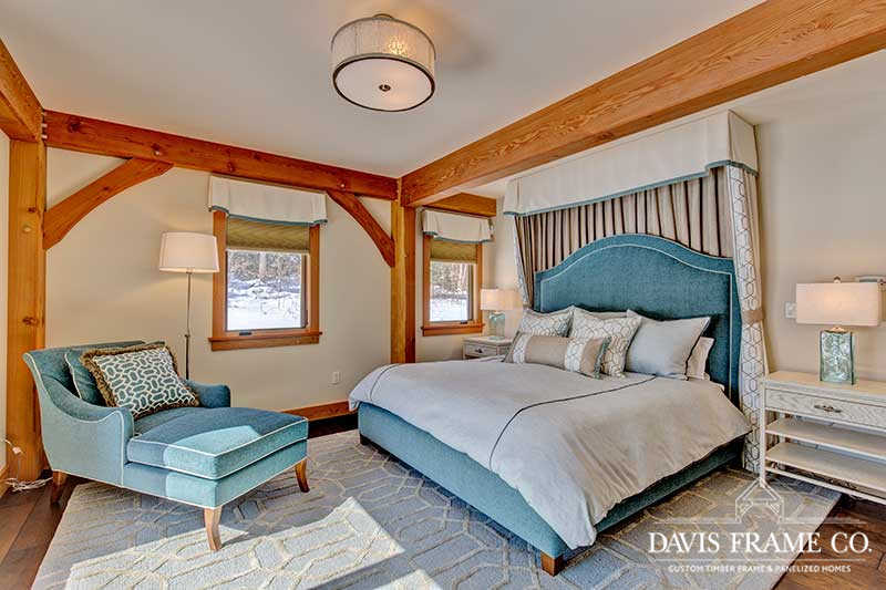 White Mountains timber frame bedroom