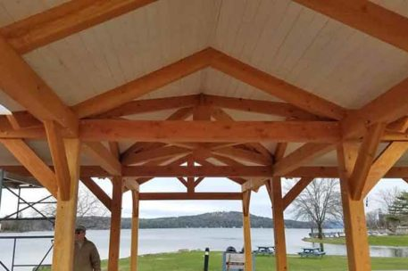 Meredith New Hampshire timber frame pavilion