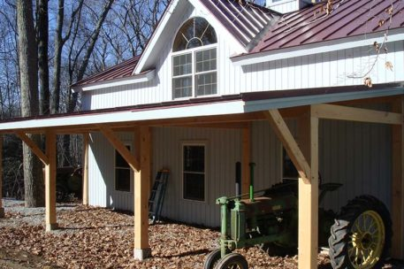 Timber frame tractor barn