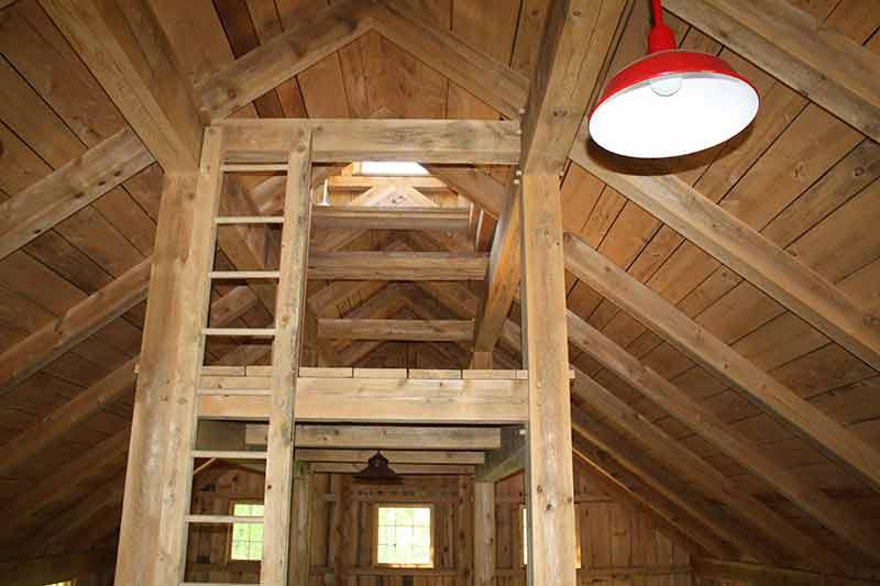 Vermont timber frame barn