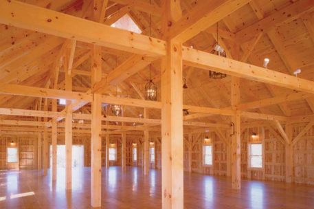 Vermont timber frame wedding barn