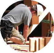 builder working with davis frame