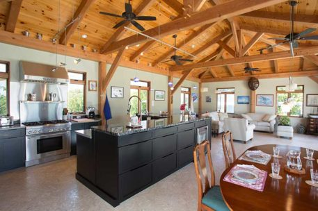 Caribbean timber frame kitchen
