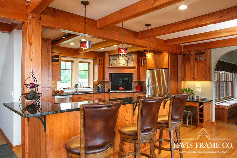 Berkshires timber frame kitchen