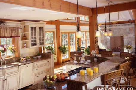 North shore timber frame kitchen