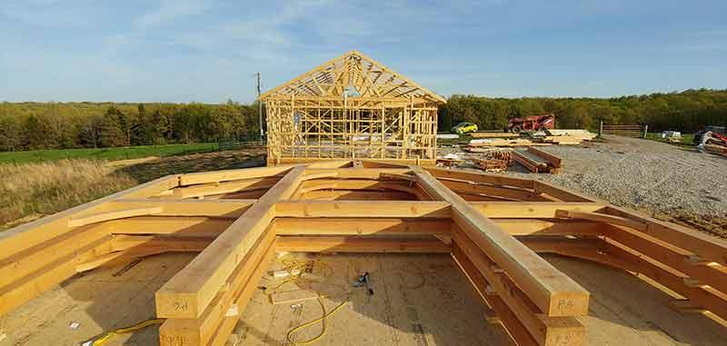 timber frame raising in missouri
