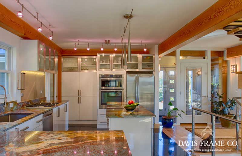Modern timber frame kitchen