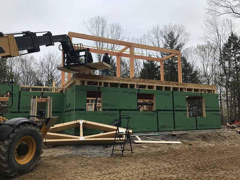 hybrid timber frame home