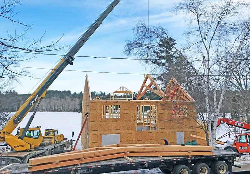 NH lakeside timber frame home