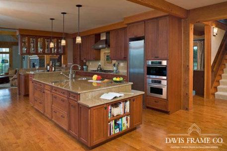 Post and beam kitchen Massachusetts