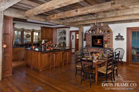 Reclaimed timber frame kitchen