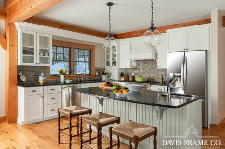 Slopeside timber frame kitchen