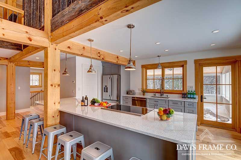 Pine timber frame kitchen