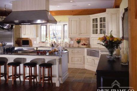 Nantucket post and beam kitchen